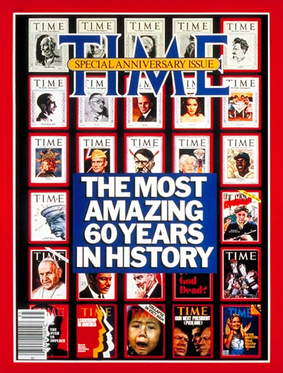 The 60th Anniversary Issue of TIME Magazine.