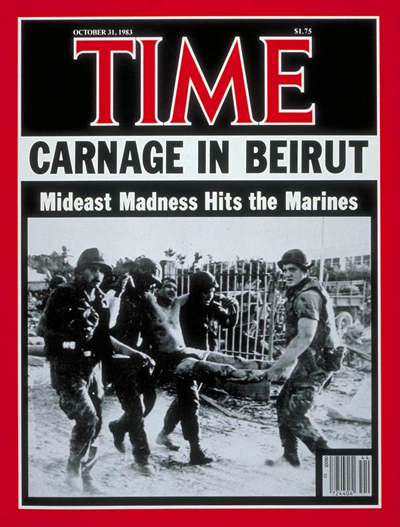 Terrorist attack on U.S. Marine barracks in Beirut
