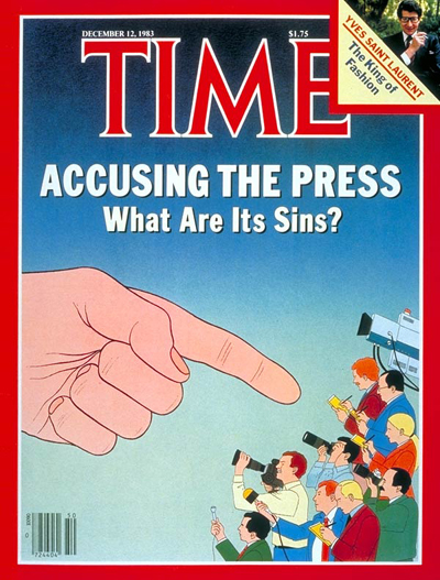 TIME Magazine Cover: The Press Under Fire -- Dec. 12, 1983