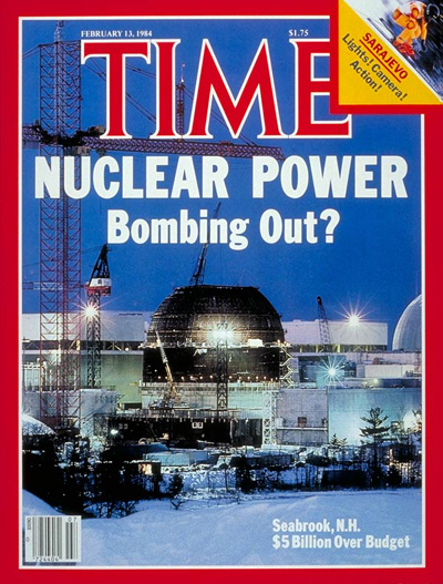 TIME Magazine Cover: Seabrook Nuclear Plant -- Feb. 13, 1984