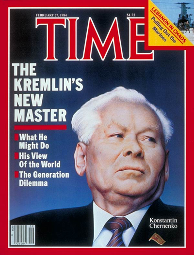 TIME Magazine Cover: Konstantin Chernenko -- Feb. 27, 1984