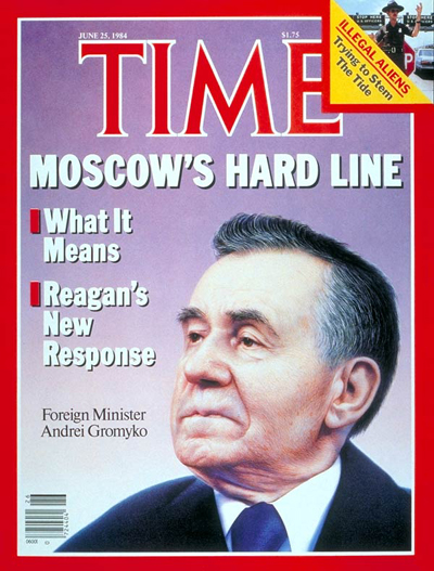 TIME Magazine Cover: Andrei A. Gromyko -- June 25, 1984