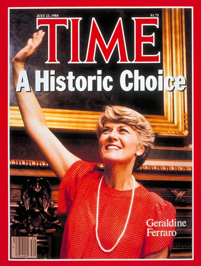 A Historic Choice' VP candidate Geraldine Ferraro