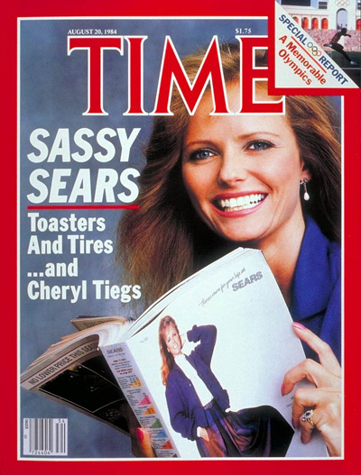 TIME Magazine Cover: Sears and Cheryl Tiegs -- Aug. 20, 1984