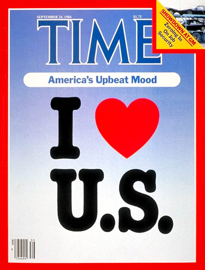 TIME Magazine Cover: America's Upbeat Mood -- Sep. 24, 1984