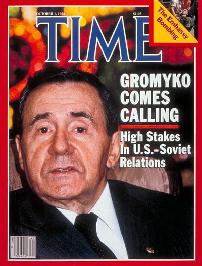 TIME Magazine Cover: Andrei A. Gromyko -- Oct. 1, 1984