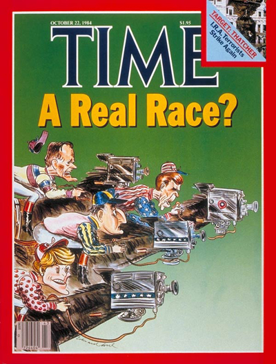 TIME Magazine Cover: Bush, Reagan, Mondale, Ferraro -- Oct. 22, 1984
