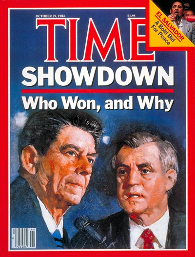 TIME Magazine Cover: Reagan & Mondale -- Oct. 29, 1984
