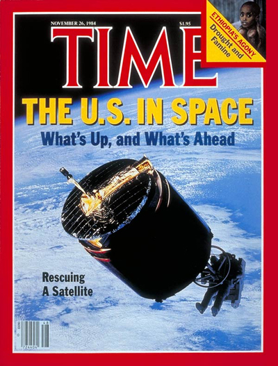 TIME Magazine Cover: Astronauts Rescue Satellite -- Nov. 26, 1984