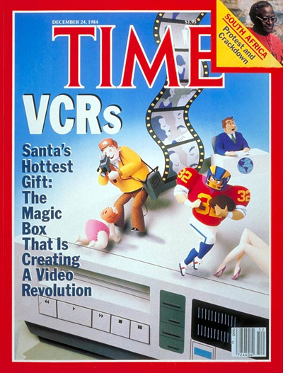 TIME Magazine Cover: Video Cassette Recorders -- Dec. 24, 1984