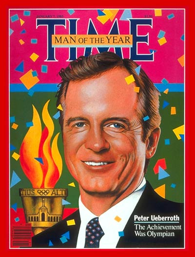 time magazine cover peter ueberroth man of the year. Black Bedroom Furniture Sets. Home Design Ideas