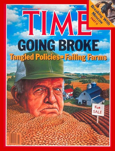 TIME Magazine Cover: Failing Farms -- Feb. 18, 1985
