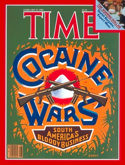 TIME Magazine Cover: Cocaine -- Feb. 25, 1985