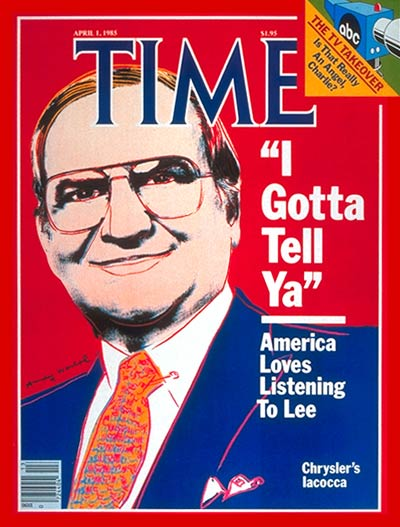 TIME Magazine Cover: Lee Iacocca -- Apr. 1, 1985