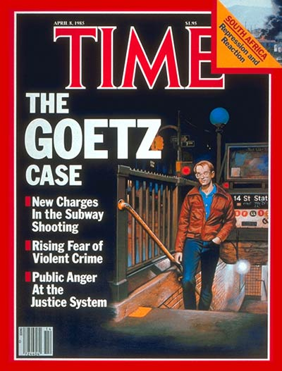 TIME Magazine Cover: Bernhard Goetz -- Apr. 8, 1985