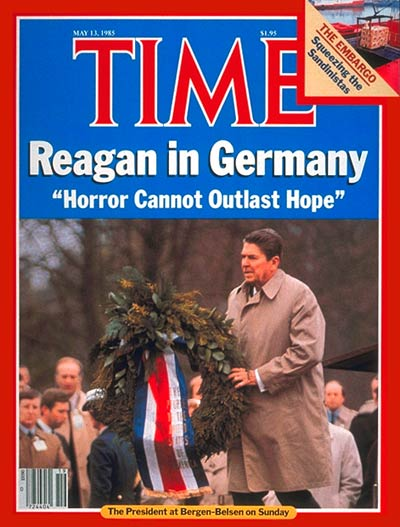 TIME Magazine Cover: Ronald Reagan in Germany -- May 13, 1985