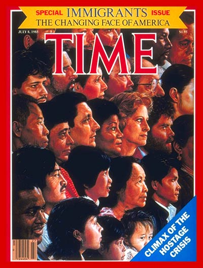 TIME Magazine Cover: Special Issue: Immigrants -- July 8, 1985