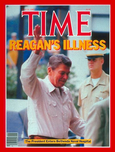 TIME Magazine Cover: Ronald Reagan Enters Hospital -- July 22, 1985