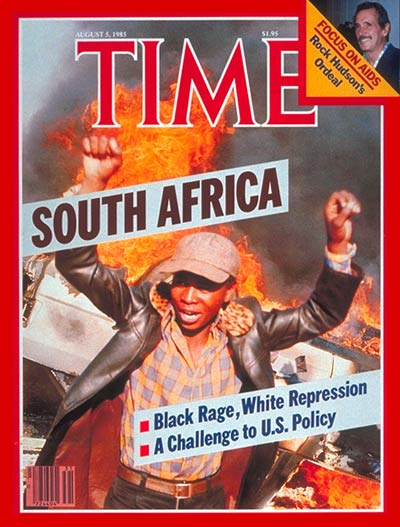 TIME Magazine Cover: South Africa -- Aug. 5, 1985