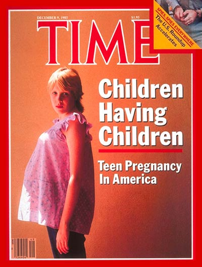 TIME Magazine Cover: Teenage Pregnancy -- Dec. 9, 1985