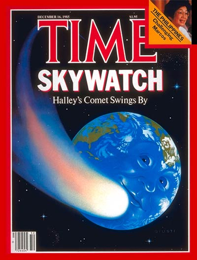TIME Magazine Cover: Halley's Comet -- Dec. 16, 1985