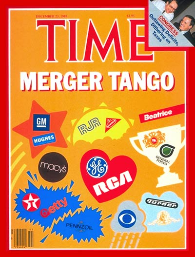 TIME Magazine Cover: Corporate Mergers -- Dec. 23, 1985
