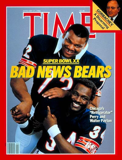 TIME Magazine Cover: William Perry & Walter Payton -- Jan. 27, 1986