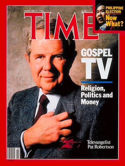 TIME Magazine Cover: Pat Robertson -- Feb. 17, 1986
