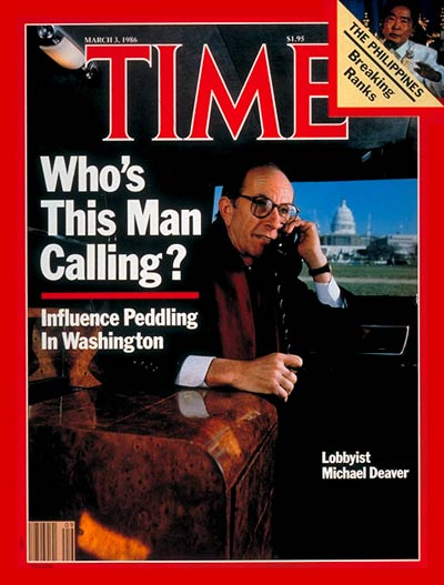 TIME Magazine Cover: Michael Deaver -- Mar. 3, 1986
