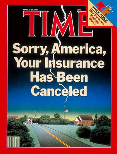TIME Magazine Cover: Insurance -- Mar. 24, 1986
