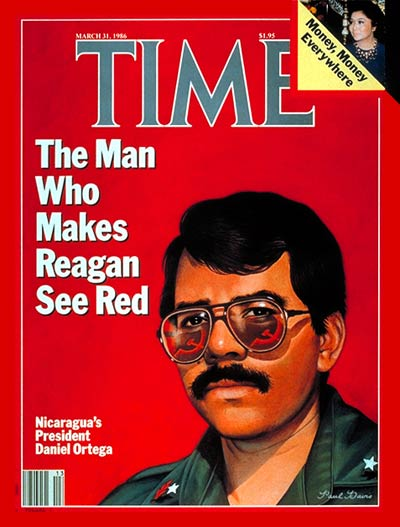 TIME Magazine Cover: Daniel Ortega -- Mar. 31, 1986