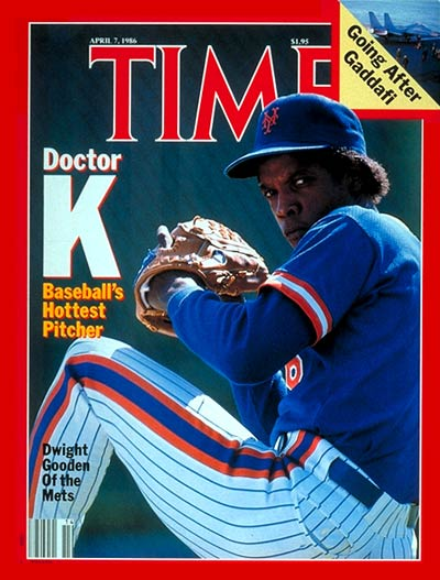 NY Mets baseball player Dwight Gooden