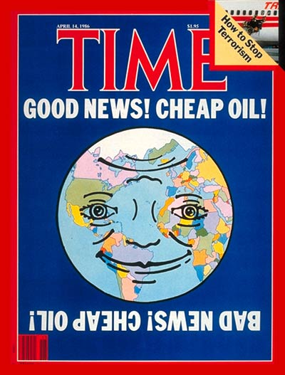 TIME Magazine Cover: Cheap Oil -- Apr. 14, 1986