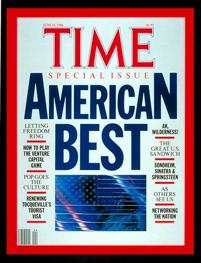 TIME Magazine Cover: Special Issue: Best of America -- June 16, 1986