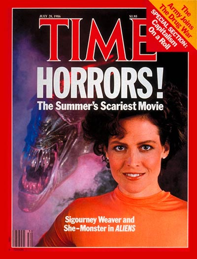 TIME Magazine Cover: Sigourney Weaver -- July 28, 1986