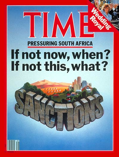 TIME Magazine Cover: South Africa -- Aug. 4, 1986