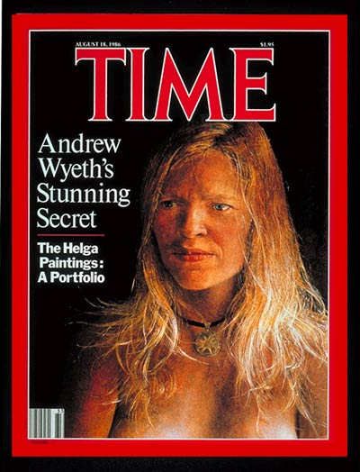 TIME Magazine Cover: Andrew Wyeth's 'Helga' -- Aug. 18, 1986
