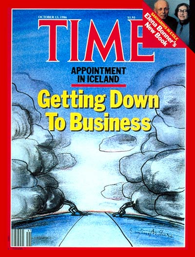 TIME Magazine Cover: Summit in Iceland -- Oct. 13, 1986