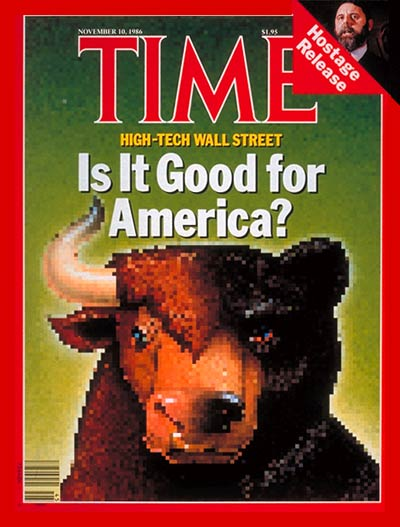 TIME Magazine Cover: High-Tech Wall Street -- Nov. 10, 1986