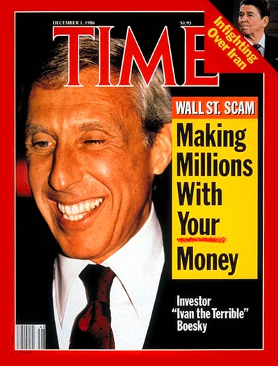 TIME Magazine Cover: Ivan Boesky -- Dec. 1, 1986