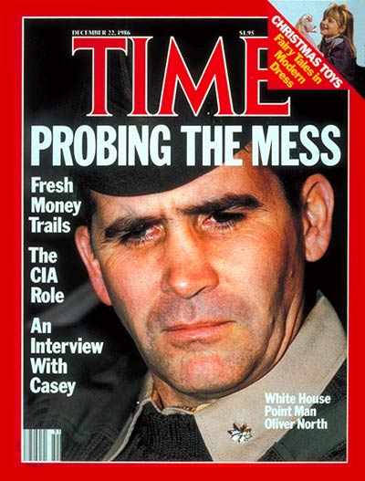 TIME Magazine Cover: Liet. Col. Oliver North -- Dec. 22, 1986