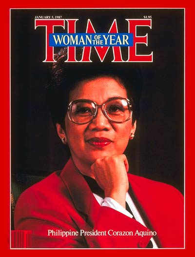 TIME Magazine Cover: Corazon Aquino, Woman of the Year -- Jan. 5, 1987
