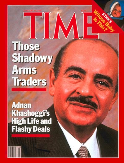TIME Magazine Cover: Adnan Khashoggi -- Jan. 19, 1987