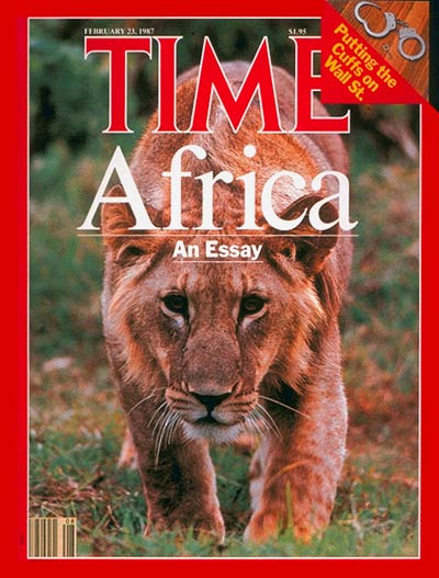TIME Magazine Cover: African Wildlife -- Feb. 23, 1987