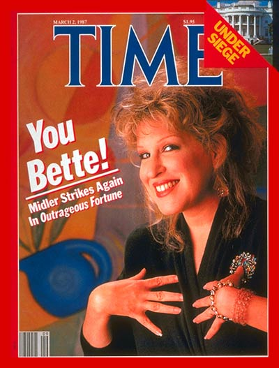TIME Magazine Cover: Bette Midler -- Mar. 2, 1987