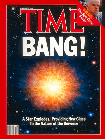 TIME Magazine Cover: The Nature of the Universe -- Mar. 23, 1987