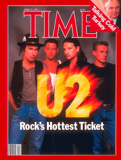 TIME Magazine Cover: U2 -- Apr. 27, 1987