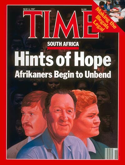 TIME Magazine Cover: South Africa -- May 4, 1987