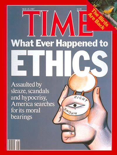 TIME Magazine Cover: America's Moral Bearings -- May 25, 1987