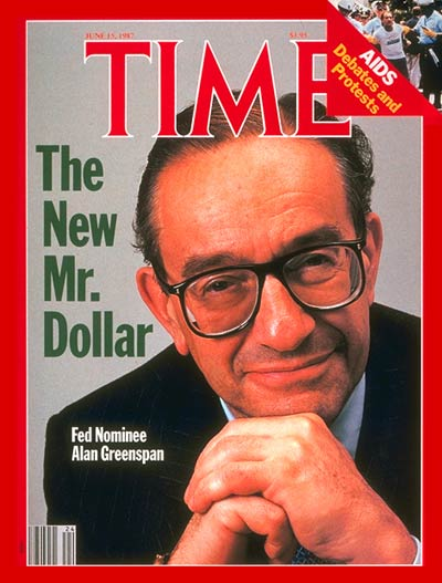 TIME Magazine Cover: Alan Greenspan -- June 15, 1987